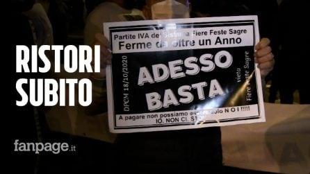 """Manifestazione in Campania: """"Ristori subito, hanno messo salute e lavoro in conflitto"""""""