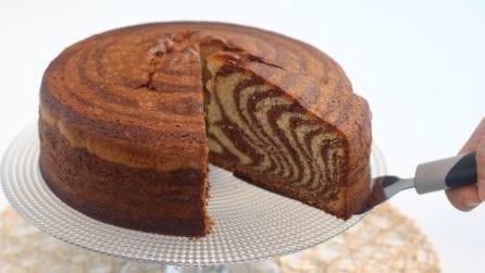 Torta soffice zebrata: la ricetta del dessert originale e goloso