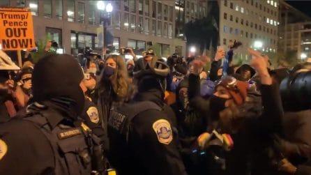 Elezioni USA, tensioni in strada: la polizia arresta una persona