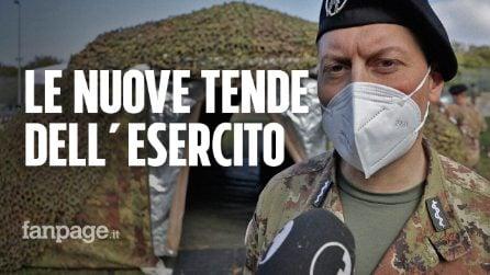 I tamponi Covid nelle tende dell'Esercito, 19 postazioni in Campania