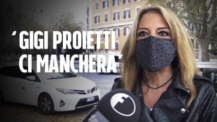 """Le tassiste omaggiano Gigi Proietti: """"Portiamo la sua voce e il suo ricordo tra le strade di Roma"""""""