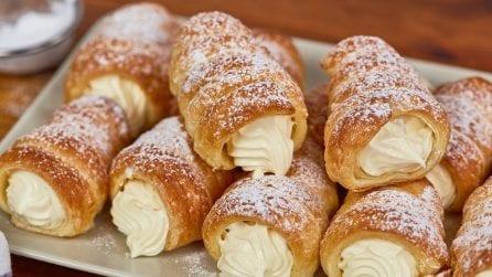 Cono di pasta sfoglia ripieni di crema: i dolcetti irresistibili pronti in pochi minuti!