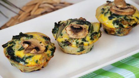 Muffin salati con i funghi: la ricetta originale e piena di gusto