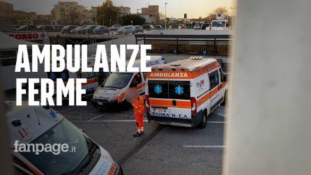 """Roma, ambulanze bloccate per ore fuori dagli ospedali: """"Non ci sono barelle"""""""