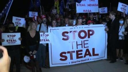Usa 2020, i sostenitori di Trump manifestano in Nevada