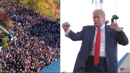 Biden presidente Usa, folla davanti alla Casa Bianca prende in giro Trump con YMCA