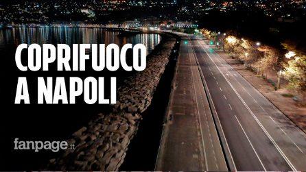 Coprifuoco a Napoli, la città è deserta per tutta la notte