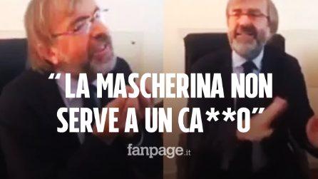 """Zuccatelli, nuovo commissario alla sanità in Calabria: """"Le mascherine non servono a un ca**o"""""""