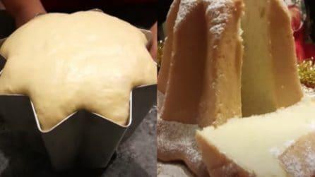 Pandoro fatto in casa senza sfogliatura: la ricetta per averlo soffice e goloso