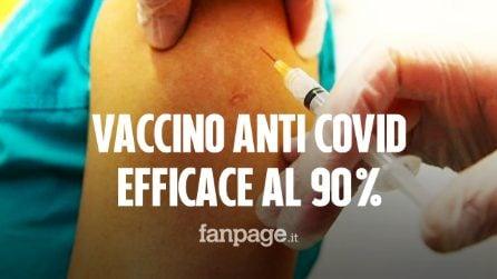 """Vaccino anti COVID di Pfizer efficace al 90% per prevenire per infezioni: """"È straordinario"""""""