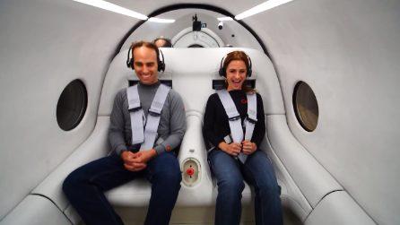 Il treno supersonico che raggiungerà 1000 km/h: il primo test con persone a bordo