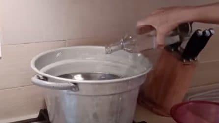 Detergente fatto in casa con sale e aceto: ottimo e naturale