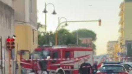 Nocera Inferiore, camion dei pompieri distrutto in incidente stradale