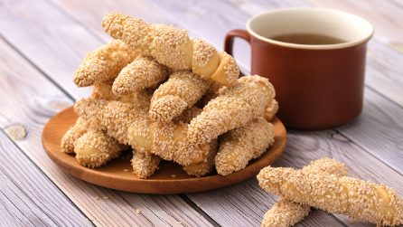 Sesame bread fingers: everyone will ask for the recipe!