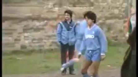 L'amichevole di Maradona ad Acerra nel gennaio 1985