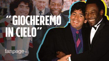 """Il messaggio di Pelè a Diego Armando Maradona: """"Giocheremo a calcio insieme in cielo"""""""