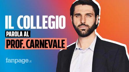 """Prof Alessandro Carnevale: """"Il Collegio non è finzione, è arte"""""""