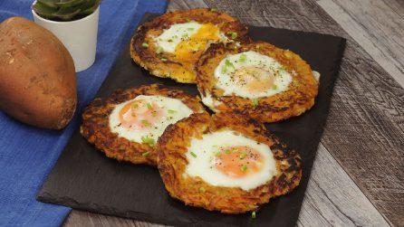 Anelli di patate dolci e uova: l'idea originale per servire le uova a occhio di bue!