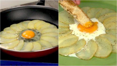 Uovo in padella con patate: l'idea facile e sfiziosa da provare!