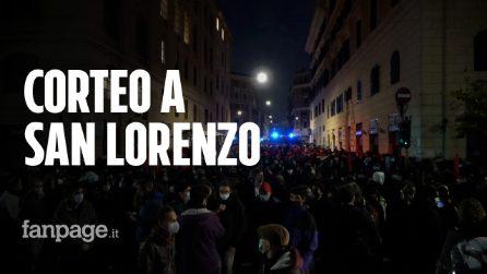 Roma, centinaia di persone in corteo contro lo sgombero del Cinema Palazzo