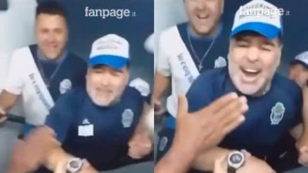 Maradona, il coro per il campione argentino al Gimnasia