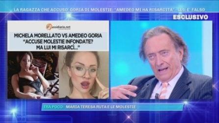 Accuse di molestie da parte di Michela Morellato: la replica di Amedeo Goria