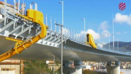 Robot ipertecnologici al lavoro sul Nuovo Ponte di Genova
