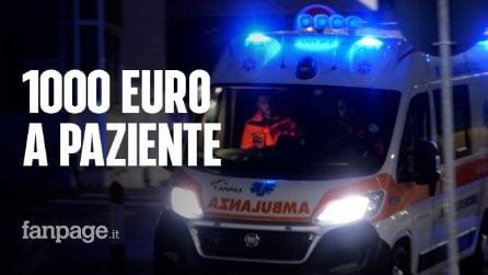 Malato Covid in ambulanza a Napoli, il trasporto costa fino a 1000 euro: si specula sull'emergenza