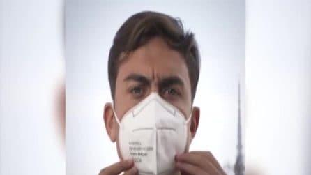 """Regione Piemonte, anche Dybala invita a indossare la mascherina: """"Dobbiamo fare squadra"""""""