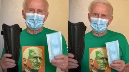 Parastinchi e mascherina, il messaggio anticovid di Trapattoni