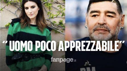 """Laura Pausini su Maradona: """"Fa più notizia un uomo poco apprezzabile che delle donne abusate"""""""