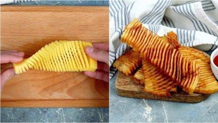 Il modo unico e geniale per friggere delle patate come non avete mai fatto!