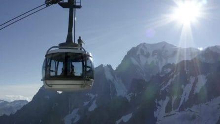 Un sassofono sul Monte Bianco, la sinfonia è da brividi