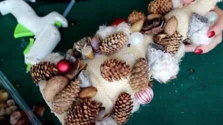 Albero di Natale con pigne e frutta secca: l'idea davvero originale