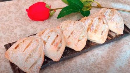Conchiglie di pasta sfoglia con crema: la ricetta del dessert veloce e goloso