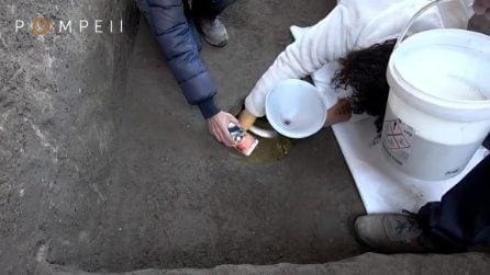 Scavi di Pompei, la scoperta dei due corpi sotto le ceneri del Vesuvio