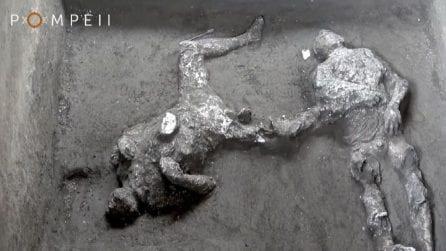 Pompei, riemersi i calchi di due antichi cittadini pompeiani