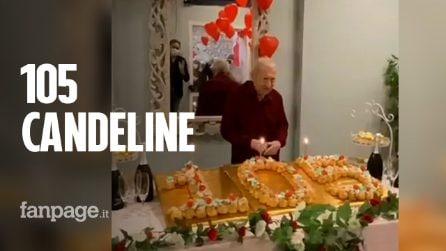 Nonno Gerardo festeggia i suoi 105 a Villa Algisa e inaugura la stanza degli abbracci