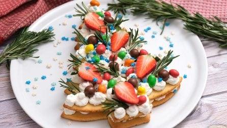 Cream tart a forma di albero di Natale: il dolce perfetto per le feste!