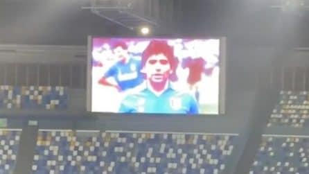 """Al San Paolo l'omaggio a Maradona, a tutto volume """"Live is Life"""""""
