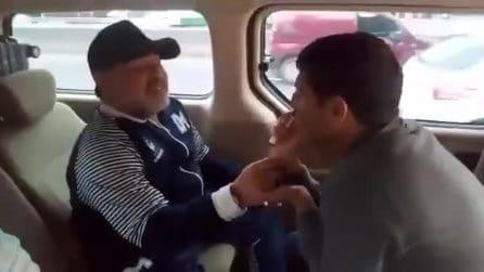"""Maradona canta Cient'anne di Gigi d'Alessio: """"Napoli sempre nel mio cuore"""""""