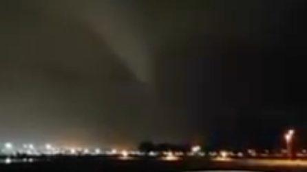 Tromba d'aria sull'aeroporto di Catania
