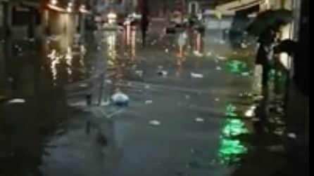 Maltempo a Catania, le strade della città allagate