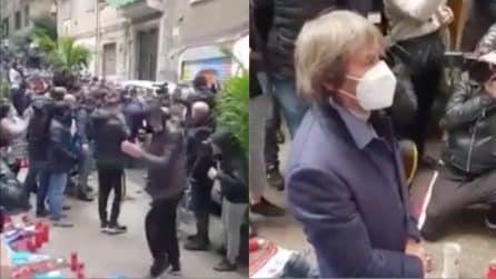 Bruno Conti ai quartieri spagnoli: il commovente saluto a Maradona