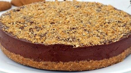 Torta al cioccolato senza cottura: la ricetta del dessert semplice e delizioso