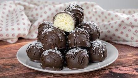 Tartufi cocco e cioccolato: avete bisogno di soli 3 ingredienti!