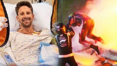 """Il miracolo che ha salvato Grosjean dalle fiamme: """"Senza l'Halo non sarei qui con voi"""""""
