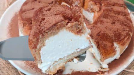 Ciambella al tiramisù senza cottura: la ricetta del dessert davvero goloso