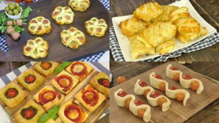 4 Modi di utilizzare la pasta sfoglia per creare dei rustici sfiziosi per i tuoi aperitivi!