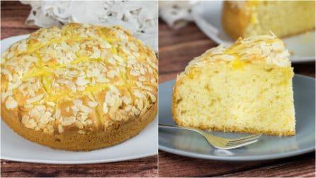 Torta crema e mandorle: il dolce soffice perfetto per la colazione o la merenda!